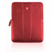 Ferrari Modena leather sleeve with zipper for iPad, red