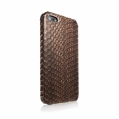 Animal Skins Hard Case Snake for iPhone 5/5S Brown