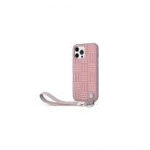 Moshi Altra Slim Hardshell Case with Wrist Strap for iPhone 13 Pro, Rose Pink (99MO117312)