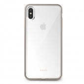 Moshi Vitros Slim Clear Case for iPhone XS Max, Champagne Gold