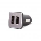 Автомобильное ЗУ Moshi Car Charger Revolt Duo Lightning Cable Black (4.2 A)