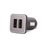 Автомобильное ЗУ Moshi Car Charger Revolt Duo Lightning Cable Black (4.2 A)