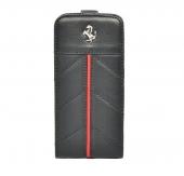 Ferrari California flip leather case for iPhone 5/5S,  black [FECFFL5B]