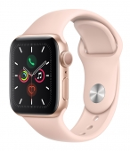 Б/У Apple Watch Series 5 GPS 44mm Gold Aluminum w. Pink Sand b.- Gold Aluminum (MWVE2) - Полный комплект
