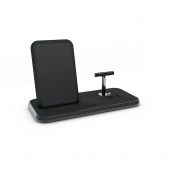 Беспроводное зарядное устройство Zens Stand + Dock Aluminium Wireless Charger 10W Black (ZEDC06B/00)
