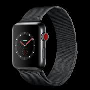 Apple Watch Series 3 42mm GPS+LTE Space Black Stainless Steel Case with Space Black Milanese Loop (MR1L2)