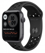 Apple Watch Series 6 Nike 44mm GPS Space Gray Aluminum Case with Anthracite/Black Nike Sport Band (MG173) (O_B)