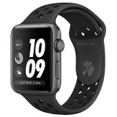NEW Apple Watch Nike+ Series 3 GPS 38mm Space Gray Aluminum w. Anthracite/BlackSport B. (MQKY2)