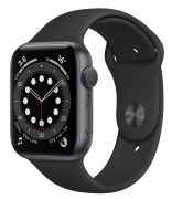 Б/У Apple Watch Series 6 40mm GPS Space Gray Aluminum Case with Black Sport Band (MG133)