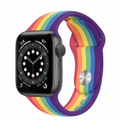 Apple Watch Series 6 44mm GPS Space Gray Aluminum Case with Pride Sport Band