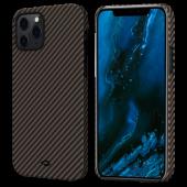 Pitaka MagEZ Case for iPhone 12 Pro Max, Twill Black/Rose Gold (KI1206PM)