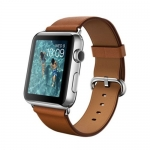 Часы Apple Watch 42mm Stainless Steel Case with Saddle Brown Classic Buckle (MLC92)