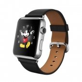 Часы Apple Watch 42mm Stainless Steel Case with Black Classic Buckle (MLFA2)