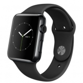 Часы Apple Watch 42mm Space Black Stainless Steel Case with Black Sport Band (MLC82)