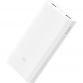 Внешний аккумулятор Xiaomi Powerbank 20000mAh, White (PLM05ZM)