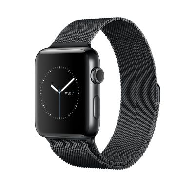 Часы Apple Watch Series 2 42mm Space Black Stainless Steel Case with Space Black Milanese Loop (MNQ12)