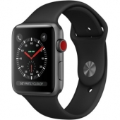 Акция! Apple Watch Series 3 42mm GPS+LTE Space Gray Aluminum Case with Black Sport Band (MQK22)
