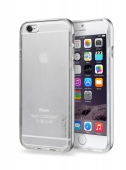 Чехол накладка LAUT EXOFRAME Silver/Pink for iPhone 6/6S Plus