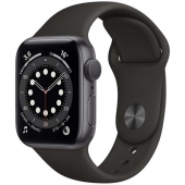 Б/У Apple Watch Series 6 GPS + Cellular 44mm Space Gray Aluminum Case w. Black Sport B. (M07H3) no box