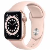 Apple Watch Series 6 44mm GPS+LTE Gold Aluminum Case with Pink Sand Sport Band (M07G3)