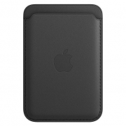 Apple Leather Wallet with MagSafe Black (MHLT3)