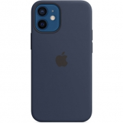 Apple Silicone Case with MagSafe for iPhone 12 Mini Deep Navy (MHKU3)