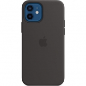 Apple Silicone Case for iPhone 12/12 Pro, Black (MHL73)