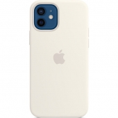 Apple Silicone Case for iPhone 12/12 Pro, White (MHL53)