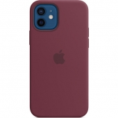 Apple Silicone Case For iPhone 12/12 Pro, Plum (MHL23)