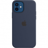 Apple Silicone Case for iPhone 12/12 Pro Deep Navy, (MHL43)
