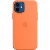 Apple Silicone Case for iPhone 12/12 Pro, Kumquat (MHKY3)