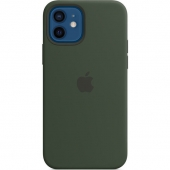 Apple Silicone Case for iPhone 12/12 Pro, Cyprus Green (MHL33)
