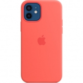 Apple Silicone Case for iPhone 12/12 Pro, Pink Citrus (MHL03)