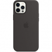 Apple Silicone Case with MagSafe for iPhone 12 Pro Max, Black (MHLG3)