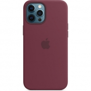 Apple Silicone Case with MagSafe for iPhone 12 Pro Max, Plum (MHLA3)