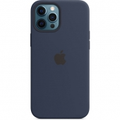 Apple Silicone Case with MagSafe for iPhone 12 Pro Max, Deep Navy (MHLD3)