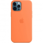 Apple Silicone Case with MagSafe for iPhone 12 Pro Max, Kumquat (MHL83)