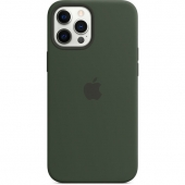 Apple Silicone Case with MagSafe for iPhone 12 Pro Max, Cyprus Green (MHLC3)