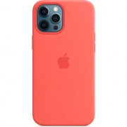Apple Silicone Case with MagSafe for iPhone 12 Pro Max, Pink Citrus (MHL93)
