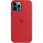 Apple Silicone Case with MagSafe for iPhone 12 Pro Max, PRODUCT RED (MHLF3)