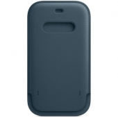 Apple Leather Sleeve for iPhone 12 Pro Max, Baltic Blue (MHYH3)