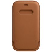 Apple Leather Sleeve for iPhone 12 Mini, Saddle Brown (MHMP3)