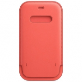 Apple Leather Sleeve for iPhone 12 Pro Max, Pink Citrus (MHYF3)