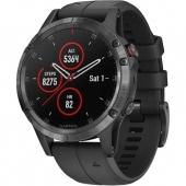 Спортивные часы Garmin Fenix 5 Plus Sapphire Black with Black Band (010-01988-00/010-01988-01)
