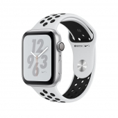Apple Watch Nike+ Series 4 GPS 44mm Silver Alum. w. Platinum/Black Nike Sport b. Silver Alum. (MU6K2)