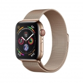 NEW Apple Watch Series 4 GPS + LTE 44mm Gold Steel w. Gold Milanese l. Gold Steel (MTV82, MTX52)