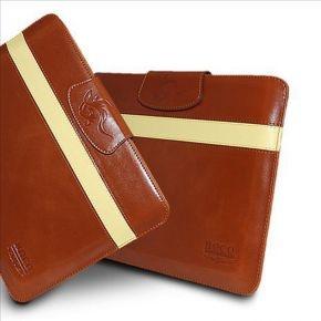 Hoco Leather Case Light Brown/Yellow iPad 2,3
