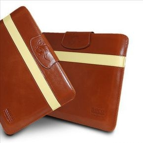 Hoco Leather Case Light Brown/Yellow iPad 2,3