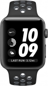 Часы Apple Watch Nike+ 38mm Space Gray Aluminum Case with Black/Cool Gray Nike Sport Band (MNYX2)