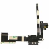 Шлейф для iPad 2 WiFi+3G с держателем SIM карты и разьем под наушники чёрного цвета